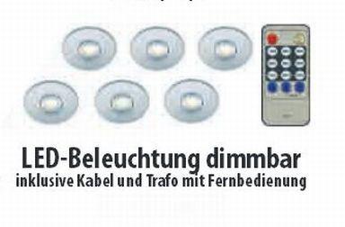 zubeh r led beleuchtungsset 3er 6er sets inkl kabel trafo dimmbar neu ebay. Black Bedroom Furniture Sets. Home Design Ideas