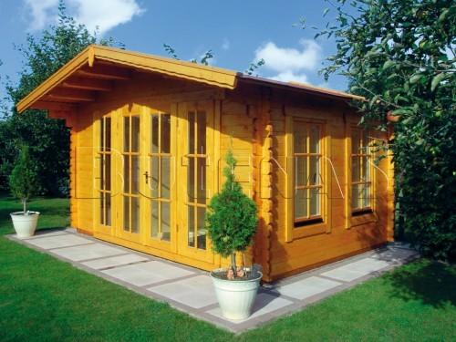 blockhaus sauna 45 mm aussen polar pano 450x450 cm neu haus garten sauna sauna aussen. Black Bedroom Furniture Sets. Home Design Ideas