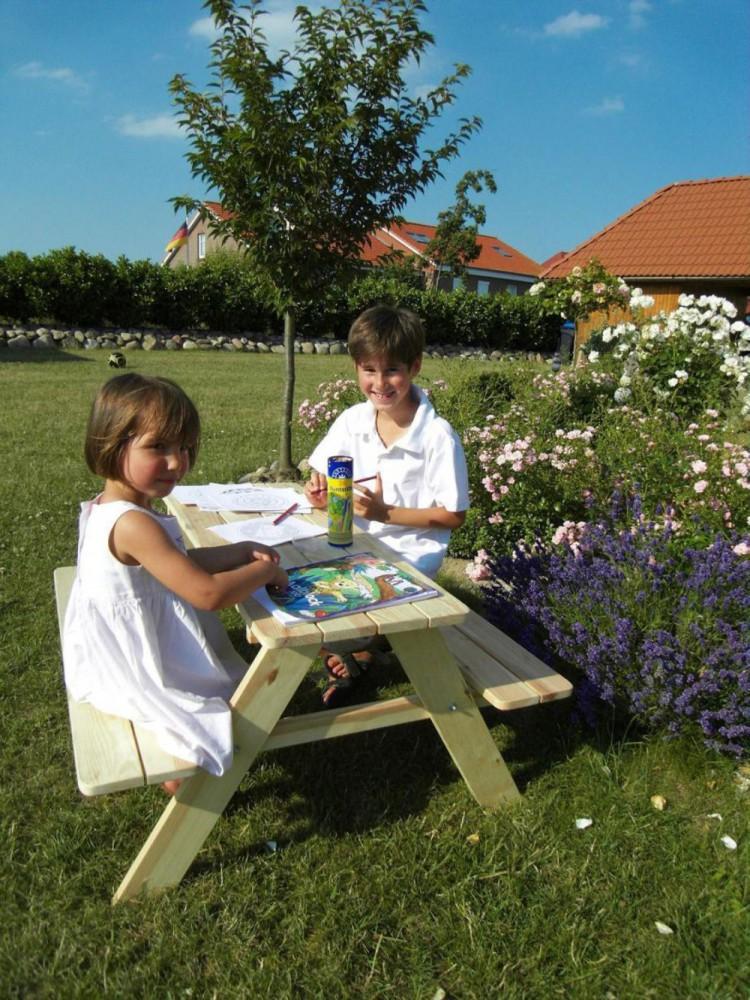 Kindersitzbank limobank gartensitzgruppe holzbank mit for Gartensitzgruppe holz