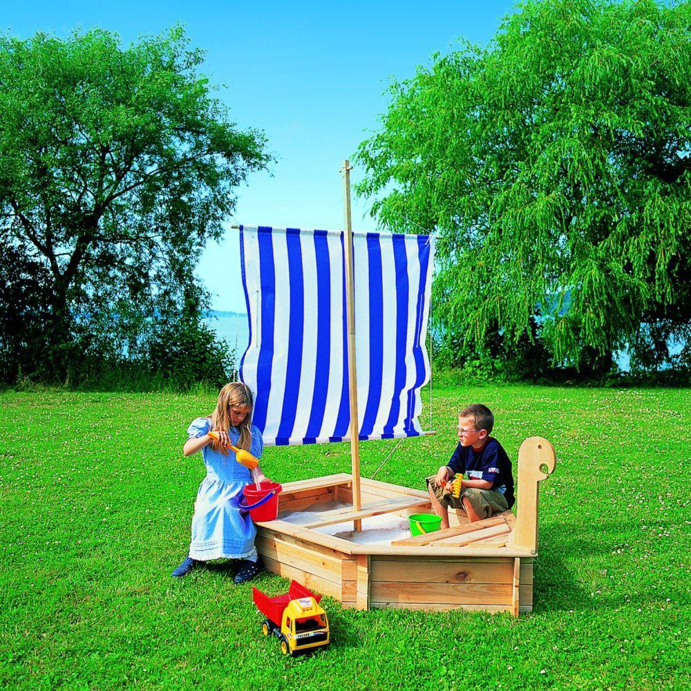 sandkasten st rtebeker mit segel schiff boot bausatz sandkiste haus garten spielzeug. Black Bedroom Furniture Sets. Home Design Ideas