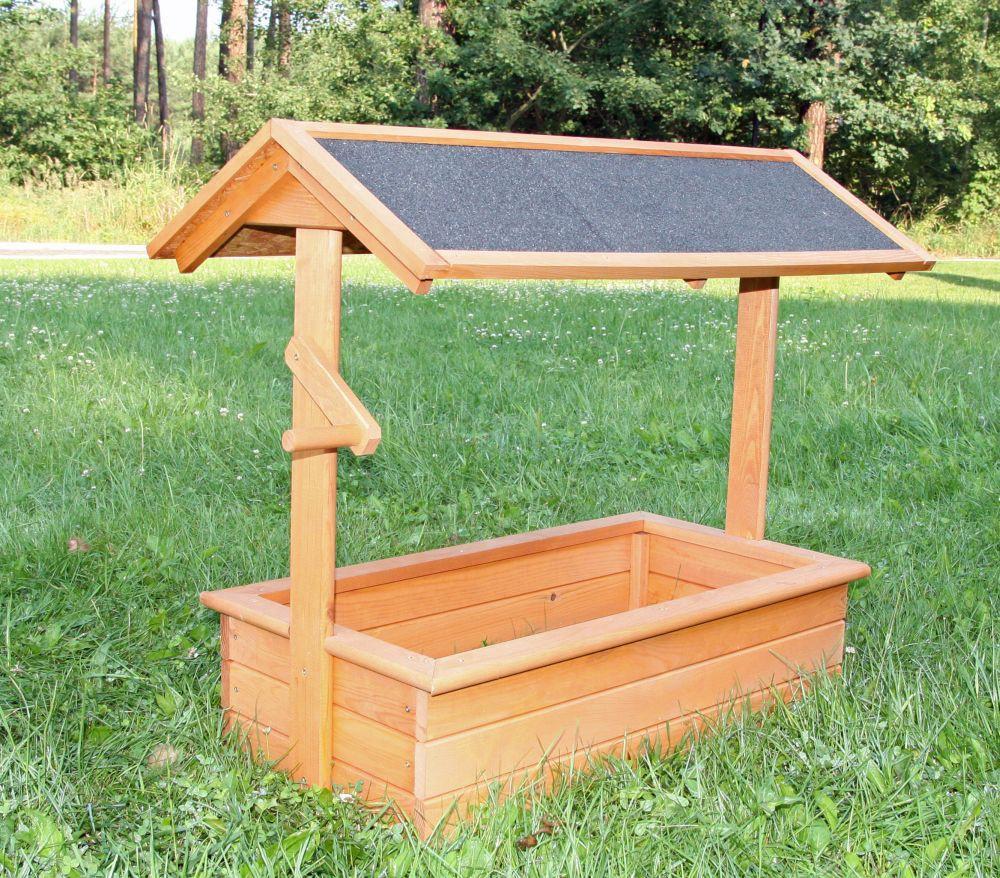 Holz zierbrunnen chiemsee b 94 5 x t 49 x h 77 cm for Gartendekoration holz