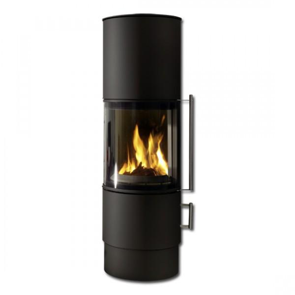 koppe drehbarer kaminofen nexus stahl 7 kw ofen kachelofen. Black Bedroom Furniture Sets. Home Design Ideas