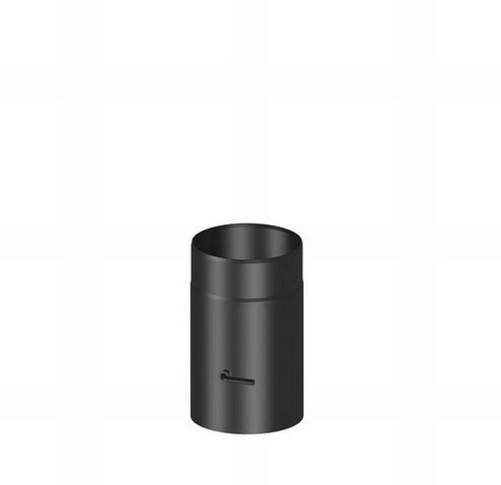 h m rauchrohr 120 mm l 250 mm mit drosselklappe schwarz. Black Bedroom Furniture Sets. Home Design Ideas