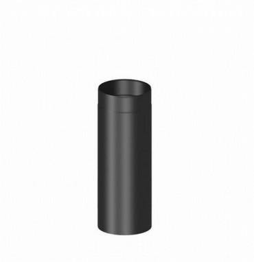 rauchrohr 150 mm hausmarke 500 mm lang schwarz kaminrohr ofenrohr kaminofen feuerstelle. Black Bedroom Furniture Sets. Home Design Ideas
