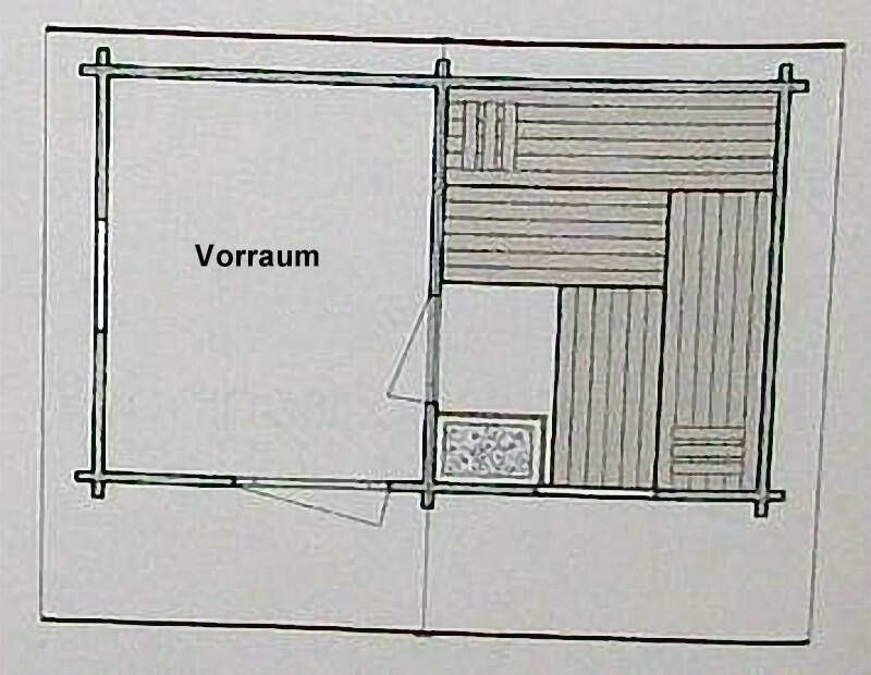 blockhaus aussensauna polar manta 390 x 260 cm polarfichte. Black Bedroom Furniture Sets. Home Design Ideas