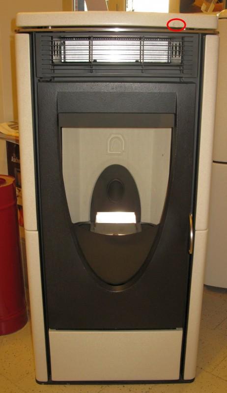 pelletofen mcz omega 7kw kamin feuerstelle salz pfeffer cre. Black Bedroom Furniture Sets. Home Design Ideas