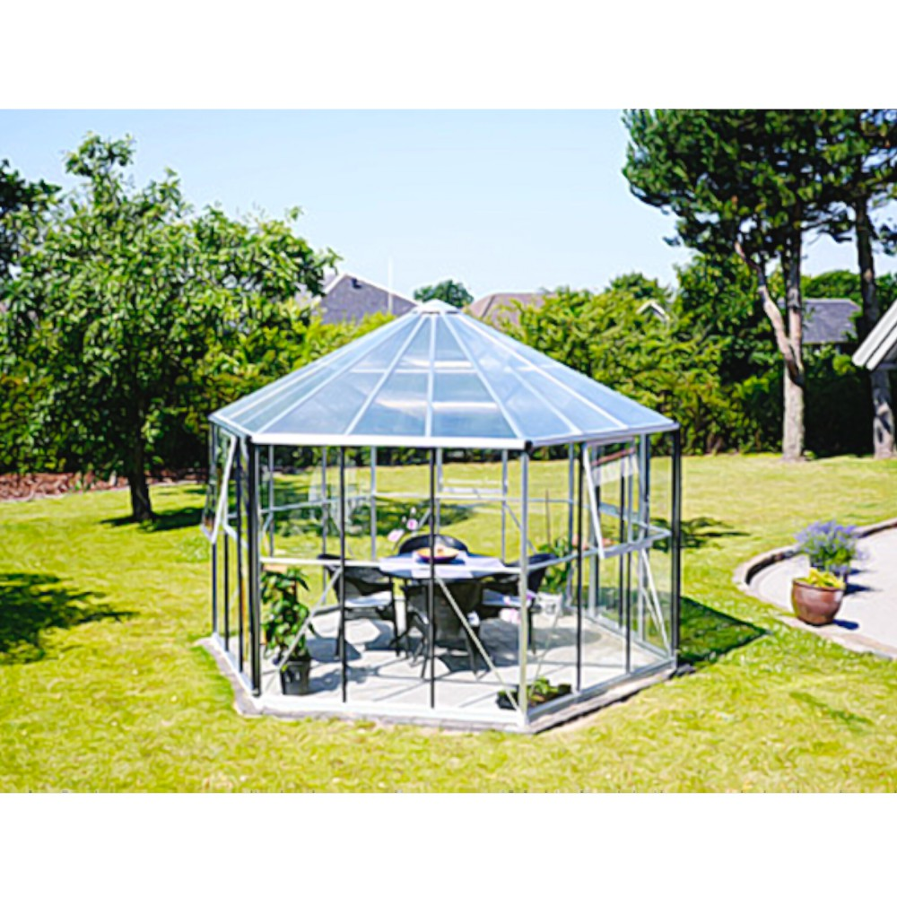 hera 9000 alu gew chshaus esg 3 mm wintergarten pavillon 9. Black Bedroom Furniture Sets. Home Design Ideas
