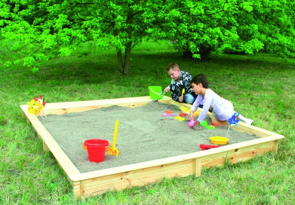 Holz sandkasten modell yanick 2 25 x 2 25 m for Garten spielzeug