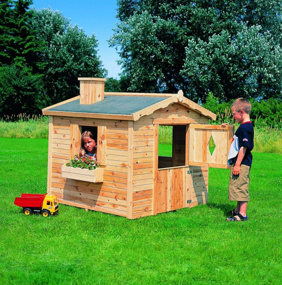 Spielhaus villa spatzennest kinderhaus gartenhaus komplett for Garten spielzeug