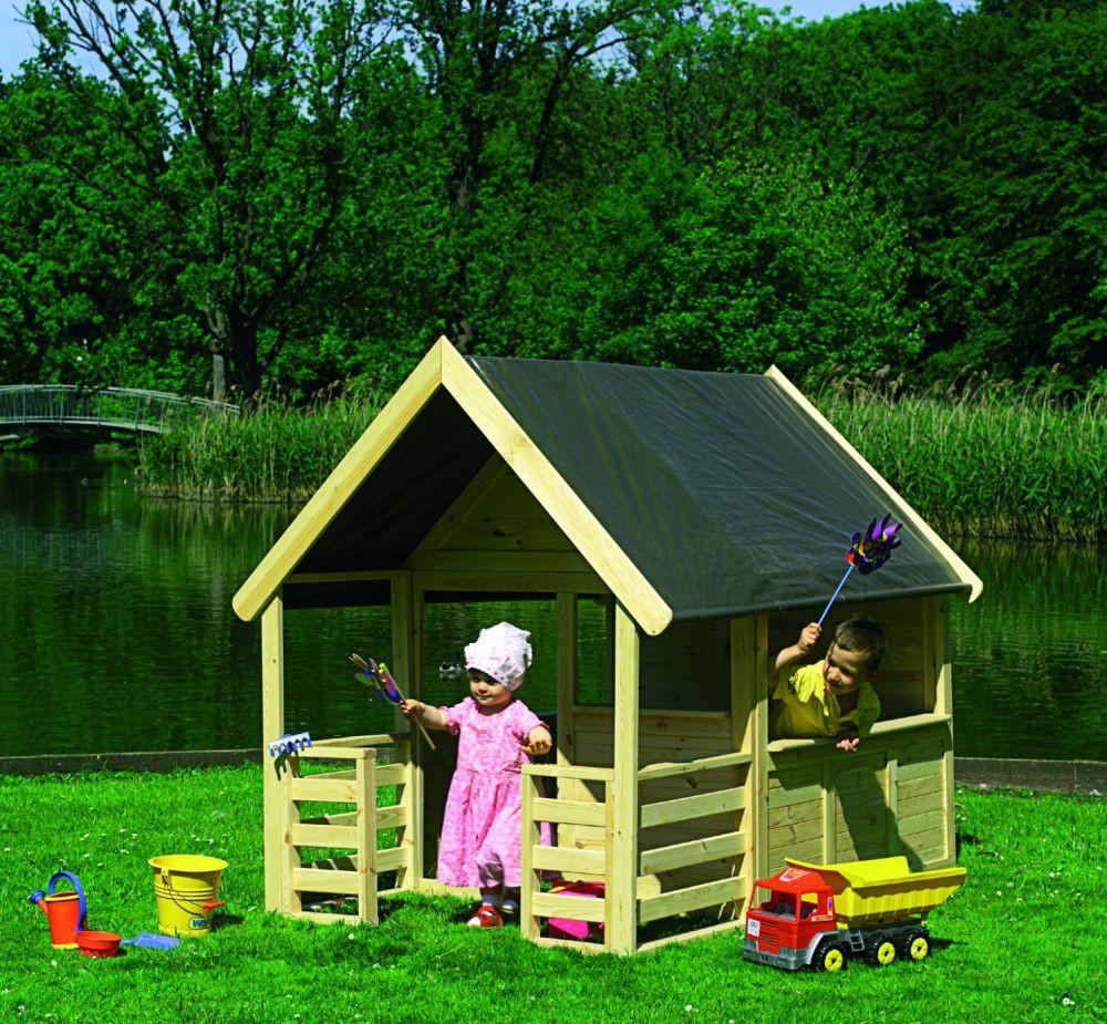 spielhaus moritz mit veranda kinderhaus gartenhaus bausatz haus garten spielzeug spielh user. Black Bedroom Furniture Sets. Home Design Ideas
