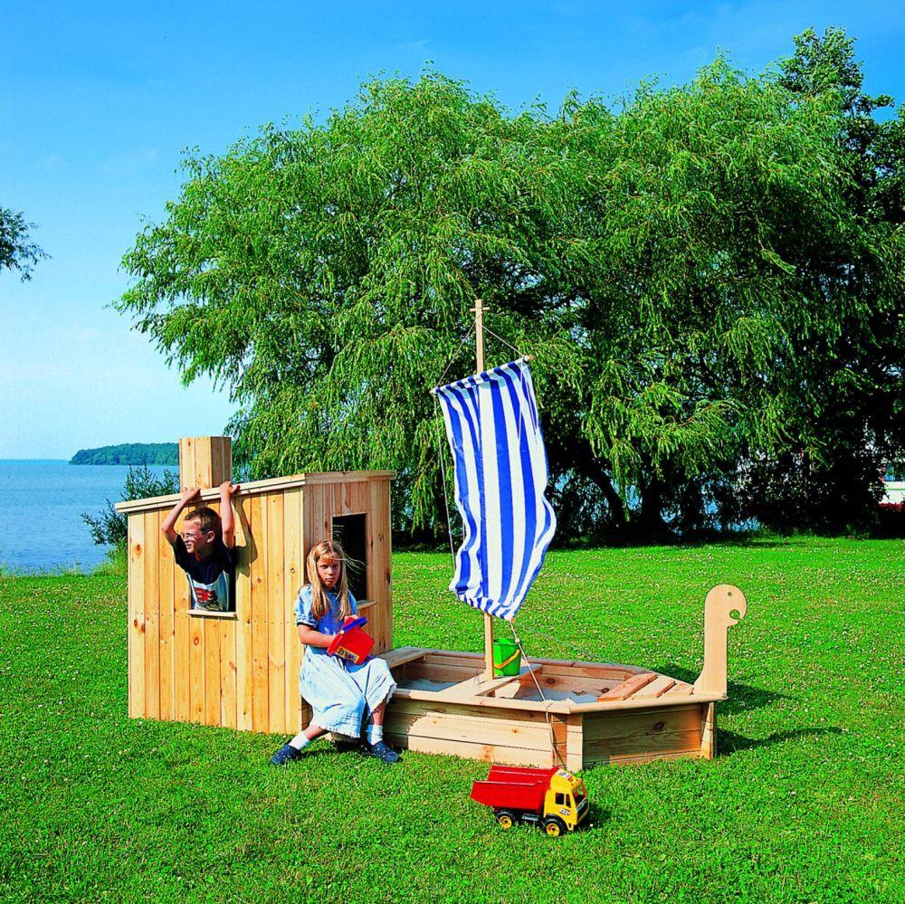 Sandkasten st rtebeker mit kaj te segel schiff boot for Garten spielzeug