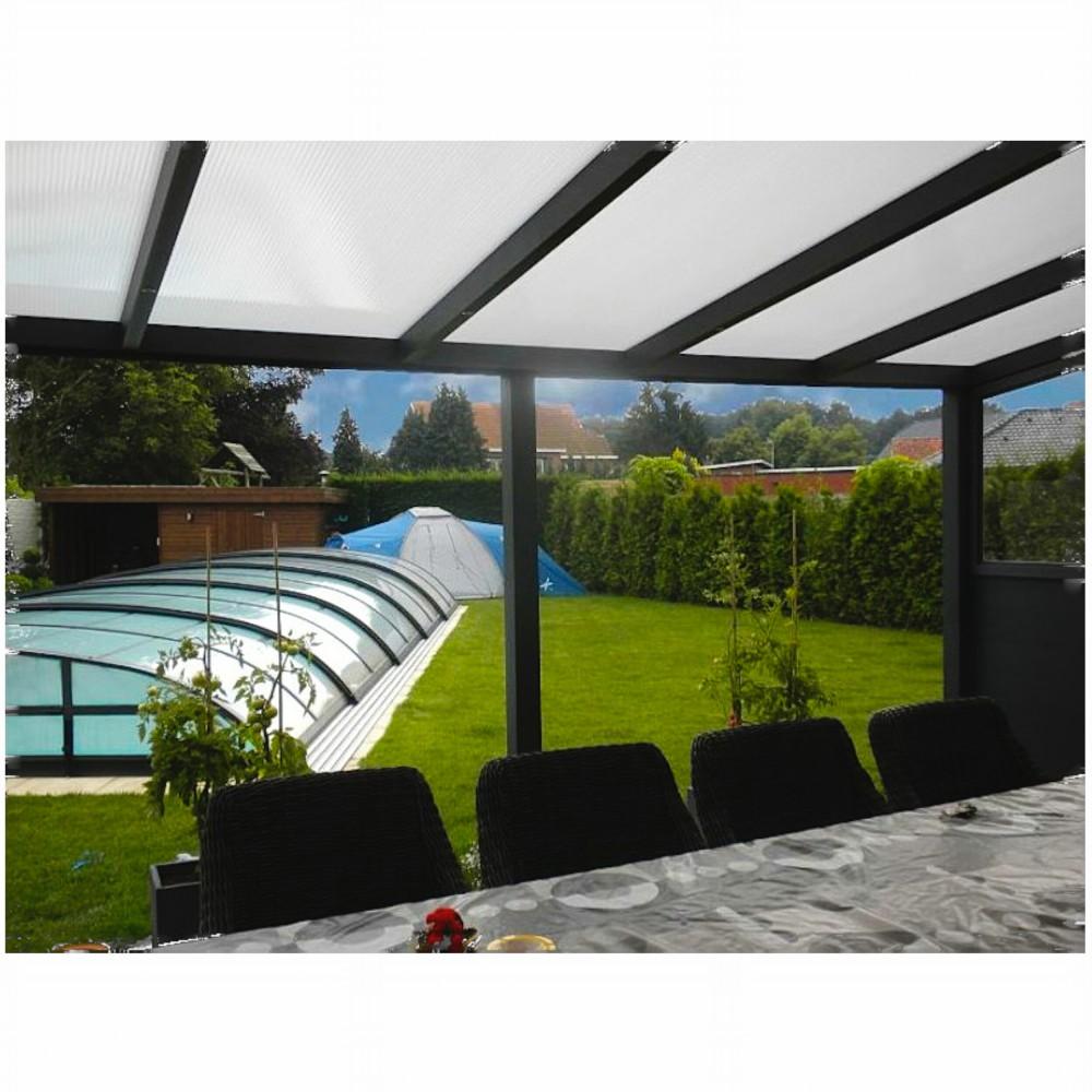 Aluminium Terrassen Überdachung aus Polycarbonat-Stegplatten 16 mm ...
