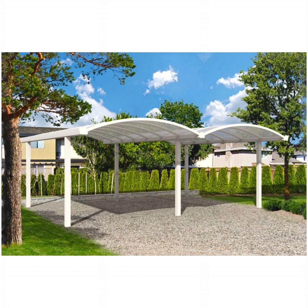 aluminium doppel bogen carport inkl polycarbonat dach. Black Bedroom Furniture Sets. Home Design Ideas