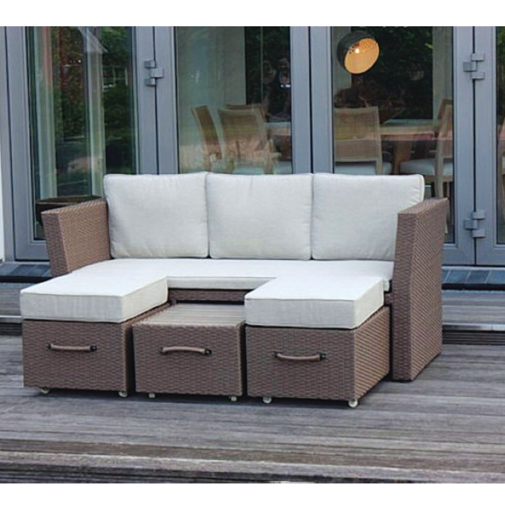 loungesofa gartenm bel aluminiumgestell polyrattangeflecht alu geflechtsofa haus garten. Black Bedroom Furniture Sets. Home Design Ideas