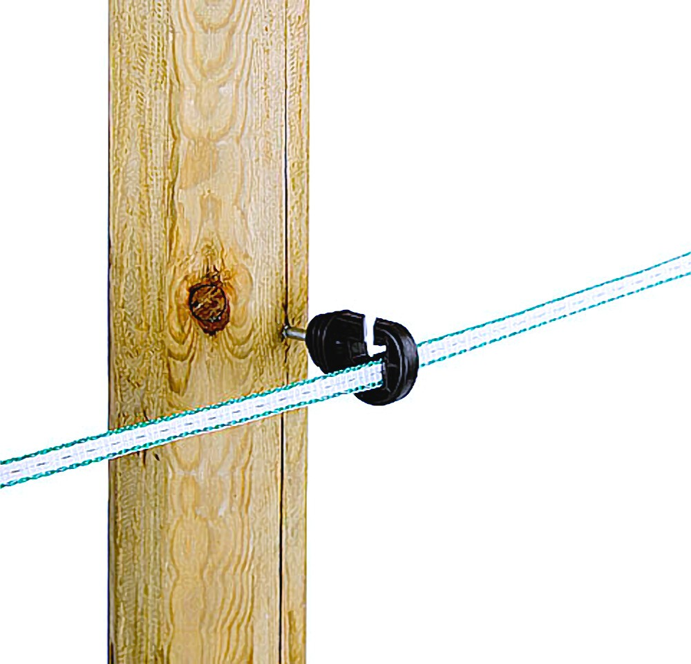 100 Stück Premium Kombiisolator für Litze Band Seil Draht ...