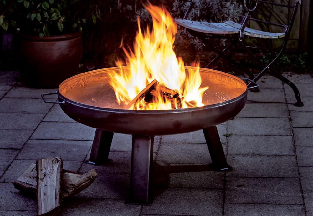 Feuerschale XXL Massive Schale 2 Griffe Ø 85 Cm Feuerstelle Für Garten Und  Terrasse
