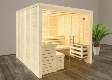 sauna innen. Black Bedroom Furniture Sets. Home Design Ideas